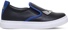 Fendi Monster Metal leather trainers 6-9 years