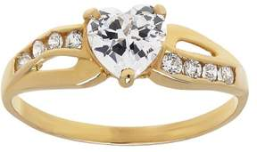 Brilliance+ Believe by Brilliance CZ 10kt Yellow Gold Heart Ring