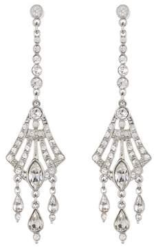 Ben-Amun Pave Crystal Deco Chandelier Drop Earrings