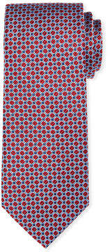 Neiman Marcus Small-Circles Silk Tie