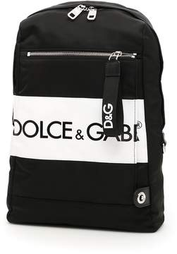 Dolce & Gabbana Nylon Backpack With Logo Patch