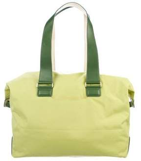 Tumi Canvas Leather-Trimmed Tote