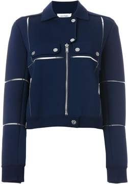 Courreges panelled biker jacket