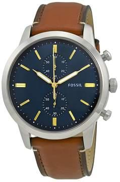 Fossil Townsman Blue Dial Men's Chronograph Watch