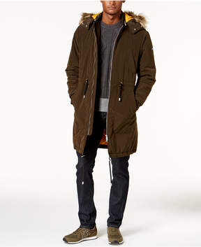 Armani Exchange Men's Anorak Jacket With Faux Fur-Trimmed Hood