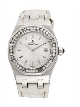 Audemars Piguet Royal Oak 67601st.zz.d012cr.02 Stainless Steel & Leather with Diamond Quartz 33mm Womens Watch