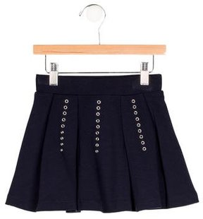 Junior Gaultier Girls' Grommet-Accented Circle Skirt w/ Tags