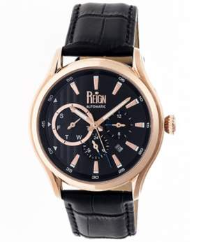 Reign Gustaf Leather-band Automatic Watch.