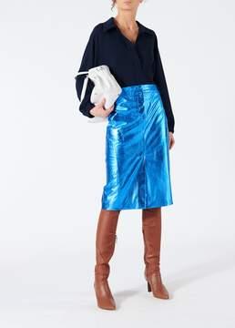 Tibi Tech Leather Trouser Skirt