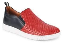 Bally Winky Basket-Weave Leather Slip-On Sneakers