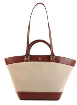 London Fog Poole Vegan Leather and Linen Tote