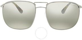 Prada Grey Mirror Silver Sunglasses