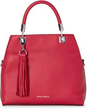 Vince Camuto Raspberry Tassel Leather Satchel