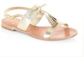 Kate Spade Carlita Tasesl Metallic Leather Sandals