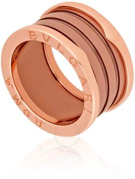 Bvlgari B.Zero1 18K Pink Gold Bronze Ceramic Ring - Size 7