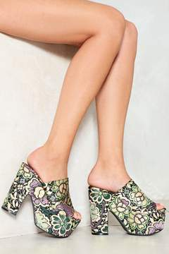 Nasty Gal nastygal Fall From Flower Brocade Mule