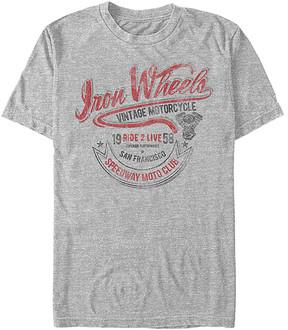 Fifth Sun Athletic Heather 'Iron Wheels' Crewneck Tee - Men