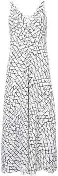 Derek Lam Slip Dress with Lacing Detail