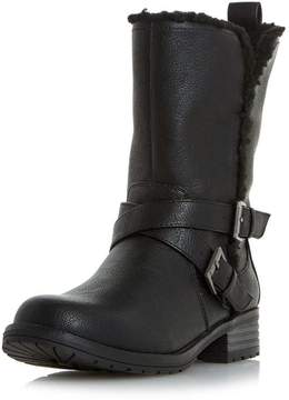 Head Over Heels *Head Over Heels by Dune Black 'Reecy' Flat Boots