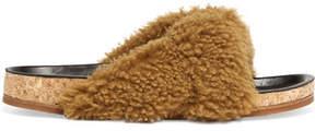 Chloé Kerenn Shearling Slides - Light brown