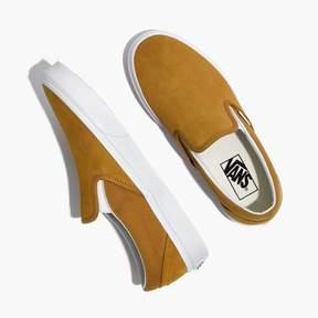 Madewell Vans® Unisex Classic Slip-On Sneakers in Medal Bronze Suede