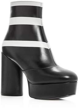Marc Jacobs Women's Amber Leather High Heel Platform Booties