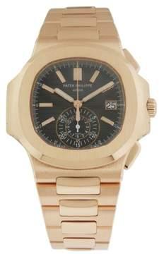 Patek Philippe Nautilus Black Dial 18kt Rose Gold Chronograph Automatic Men