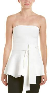 C/Meo Collective Perfect Timing Strapless Peplum Knit Top.