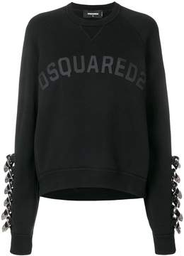 DSQUARED2 buckled sleeve sweatshirt