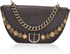 Roberto Cavalli Coins Leather Shoulder Bag