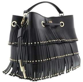 Roberto Cavalli Bucket Bag Natalie 001 Black Shoulder Bag.