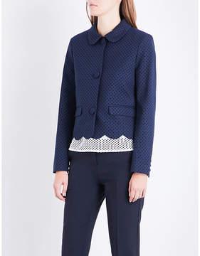 Claudie Pierlot Polka-dot woven jacket