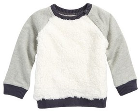 Tucker + Tate Infant Boy's Cozy Faux Fur Baseball Sweater