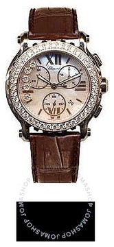 Chopard Happy Sport Mother of Pearl Dial Chronograph Diamond Ladies Watch