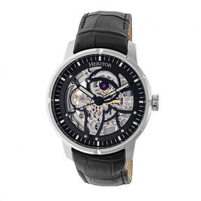 Heritor Ryder Mens Black Strap Watch-Herhr4602