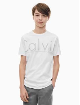 Calvin Klein boys tonal logo crewneck t-shirt