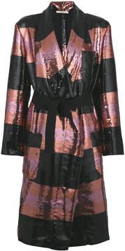 Odeeh striped sequin coat