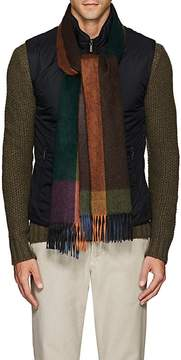Barneys New York Men's Checked Cashmere Scarf