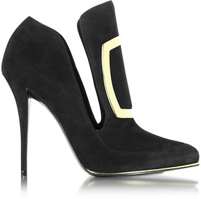 Balmain Desiree Black Suede Pump