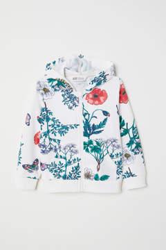 H&M Printed Hooded Jacket - White