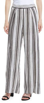 Cupcakes And Cashmere Avah Striped Split Wide-Leg Pants