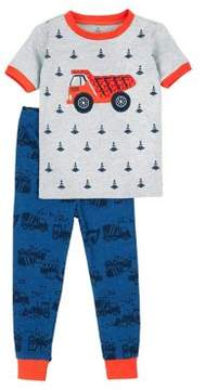 Petit Lem Little Boy's Two-Piece Truck Pajama Set