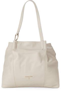 Patrizia Pepe Warm Grey Leather Shoulder Bag