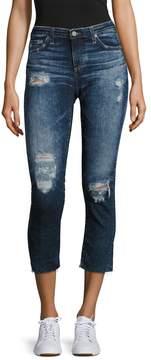 AG Adriano Goldschmied Women's Stilt Distressed Cigarette Leg Jean