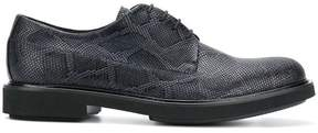 Emporio Armani snake print lace-up shoes