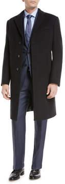 Armani Collezioni Single-Breasted Wool Top Coat