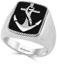 Effy Gento Black Onyx and Sterling Silver Anchor Ring