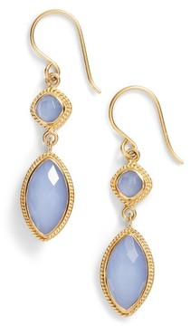 Anna Beck Women's Double Drop Semiprecious Stone Earrings