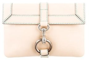 Marc Jacobs Leather Flap Clutch - NEUTRALS - STYLE