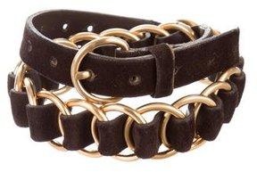 Miu Miu Suede Chain-Link Belt